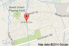 map for bewbush cleaners area