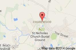 map for charlwood cleaners area