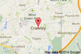 map for deep cleaning service in crawley