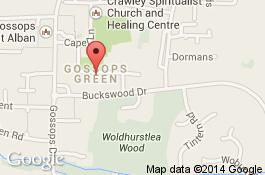 map for gossops green cleaners area