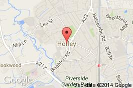 map for deep cleaning service in horley