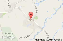 map for deep cleaning service in leigh