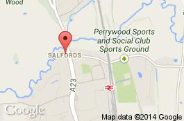 map for salfords cleaners area